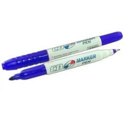 Marker CD 2 capete - albastru