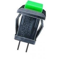 Intrerupator verde 14x14x19mm fara retinere