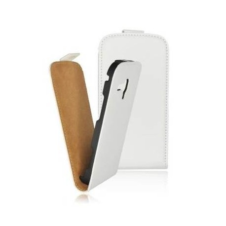 Husa alba Samsung I9070 Galaxy Advance Slim Flip