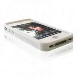 Husa silicon bumper iPhone 4G/4S alba