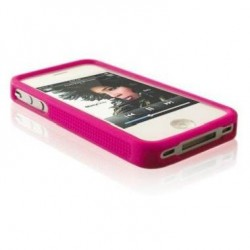 Husa silicon bumper iPhone 4G/4S roz