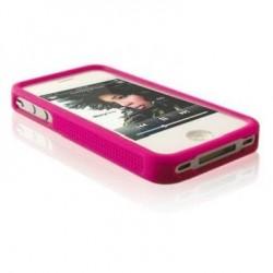Husa silicon bumper iPhone 4G/4S roz