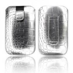 Husa Slim Croco argintie iPhone 3GS/4G/4S/Sam. i900 Omnia