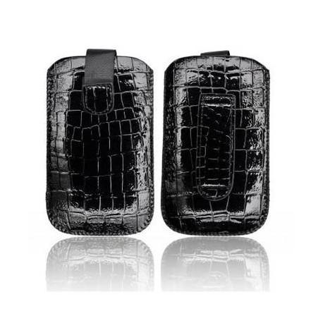 Husa Slim Croco neagra iPhone 3GS/4G/4S/Sam. i900 Omnia