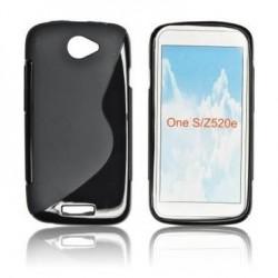 Husa silicon BackCase S-line HTC One neagra