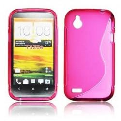 Husa silicon BackCase S-line HTC Desire X roz