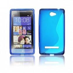 Husa silicon BackCase S-line HTC 8S albastra