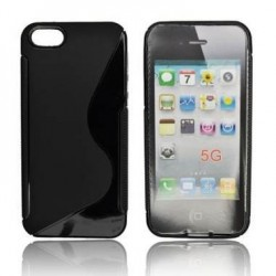 Husa silicon BackCase S-line Apple iPhone 5 neagra