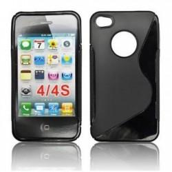 Husa silicon BackCase S-line Apple iPhone 4/4S neagra