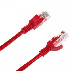 Cablu UTP CAT 6E cu mufe 3m rosu