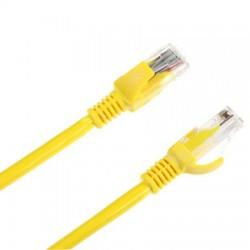Cablu UTP CAT 6E cu mufe 5m galben