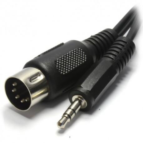Cablu jack 3.5 st. tata - DIN 5 pini 1.5m