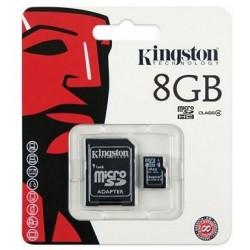 MicroSDHC 8Gb Kingston cu adaptor