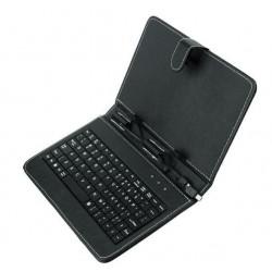 Husa universala cu tastatura pentru tablete 7nch neagra