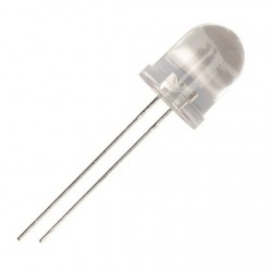 Led 10mm alb transparent