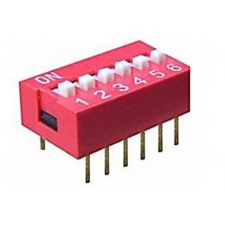Intrerupator miniatura 6 x ON-OFF