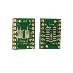 Adaptor SSOP16, SOP16 PCB dublu placat