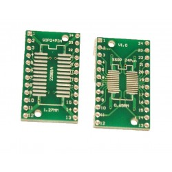 Adaptor SSOP24, SOP24 PCB dublu placat