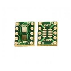 Adaptor SOP10, SOT23 PCB dublu placat