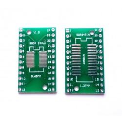 Adaptor SSOP4-28P, SOP4-28P PCB dublu placat