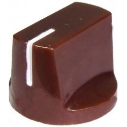 Buton plastic 14x19mm maro
