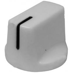 Buton plastic 14x19mm alb
