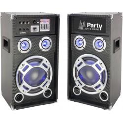 Set 2 boxe karaoke 25cm USB/SD/Bluetooth 400W
