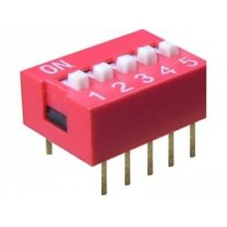 Intrerupator miniatura 5 x ON-OFF