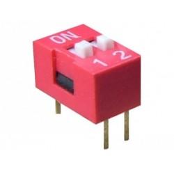 Intrerupator miniatura 2 x ON-OFF