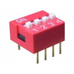Intrerupator miniatura 4 x ON-OFF