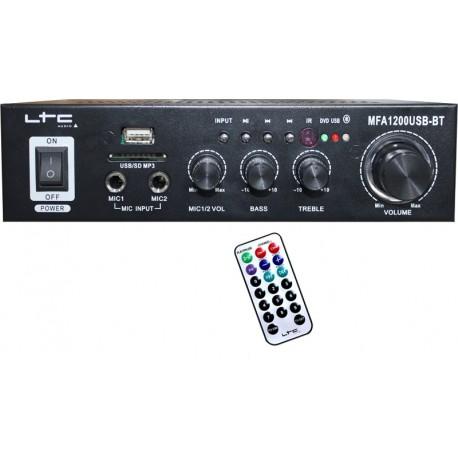 Amplificator Karaoke LTC USB/SD/Bluetooth 2x50W Negru