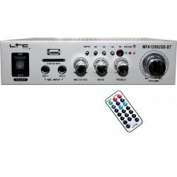 Amplificator Karaoke LTC USB/SD/Bluetooth 2x50W Argintiu