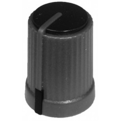 Buton plastic negru pentru ax tesit de 6mm