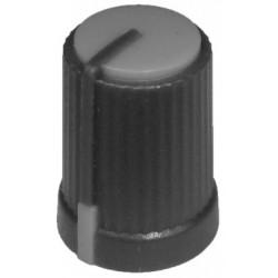 Buton plastic gri pentru ax tesit de 6mm