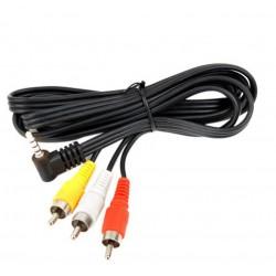 Cablu jack 3.5mm 4 contacte - 3RCA 1.5m