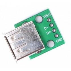 Mufa USB mama pe cablaj imprimat