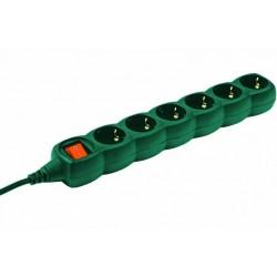 Prelungitor 6cai 3m verde cu intrerupator