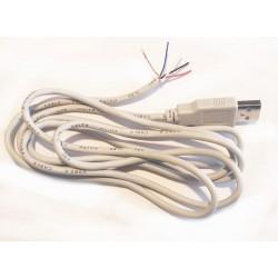 Cablu USB tata cu capat dezizolat 1.5m