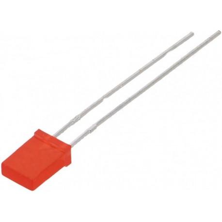Led dreptunghiular 5mm rosu