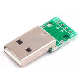 Mufa USB tata pe cablaj imprimat