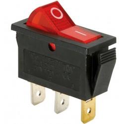 Intrerupator led simplu ON-OFF 3 contacte rosu