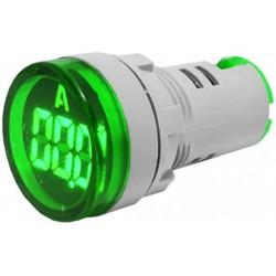 Ampermetru afisaj digital 3dig. cu led-uri 0-100A verde