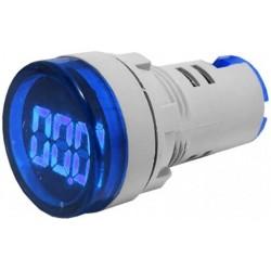 Voltmetru afisaj digital 3dig. cu led-uri 60-500V albastru
