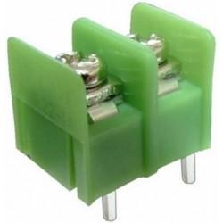 Conector PCB 2 pini verde