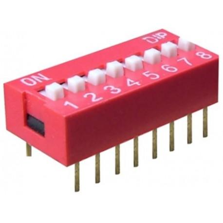 Intrerupator miniatura 8 x ON-OFF