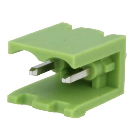 Conector PCB tata 2 pini verde