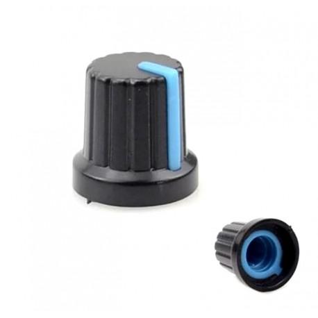 Buton potentiometru plastic dunga albastra